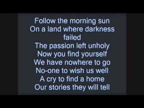 Black Veil Brides fallen Angels Lyrics (on Screen) video