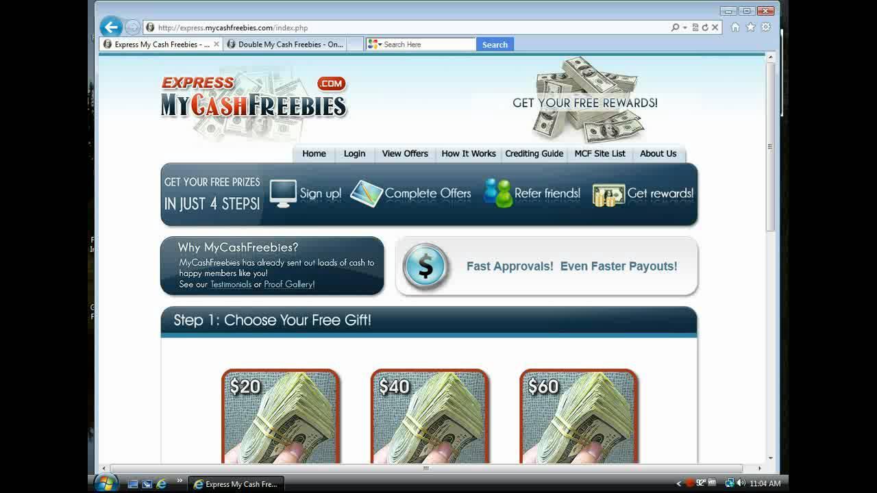 My cash freebies vs znz