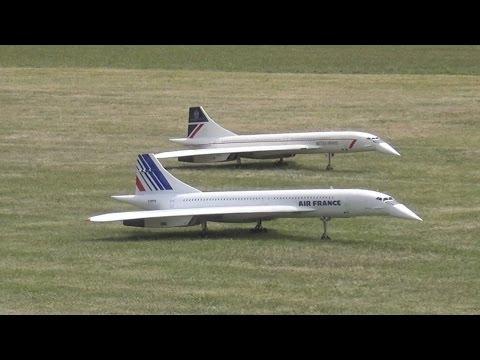 2x CONCORDE: Huge RC Scale Turbine Model Jet