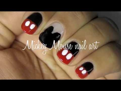Mickey mouse nail art tutorial: 2 designs