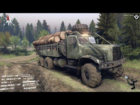 Spintires - Kraz delivering logs - Coast map