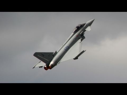 Eurofighter Typhoon - Extreme Demonstration Of Maneuverability video