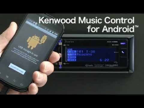 2012 Music Control For Android - Kenwood Flip USB/CD Receiver.wmv
