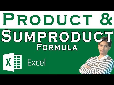 How To Use Product and Sum product Formula In Excel Tutorial In Urdu or Hindi