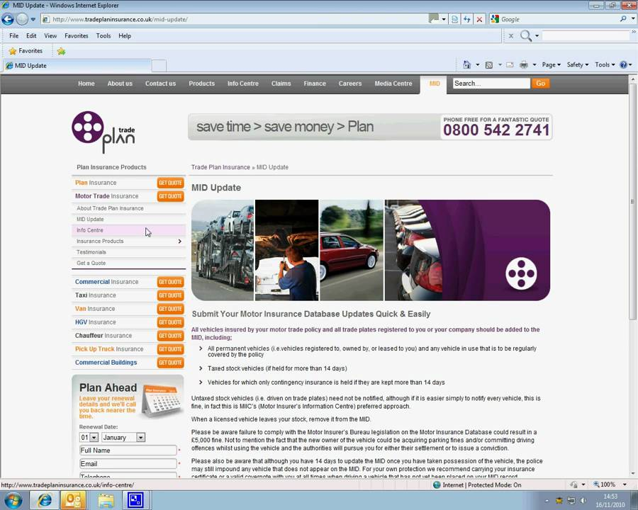 Motor Insurance Database Fill In The Mid Form On