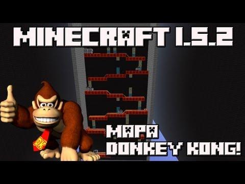 Minecraft 1.5.2 MAPA DONKEY KONG!