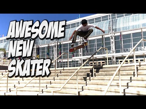 AMAZING NEW SKATER MALIQUE SIMPSON !!! - A DAY WITH NKA -