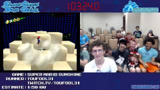 Super Mario Sunshine [GCN/Wii] :: Speed Run (1:39:51) by Toufool #SGDQ 2013