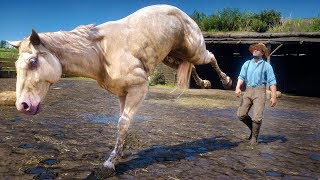 Destroying Valentine As A Horse in Red Dead Redemption 2 PC [PC Mod]