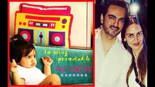 "OMG! Esha Deol Announces 2nd Pregnancy: Daughter Radhya Is ""Promoted To Big Sister"""