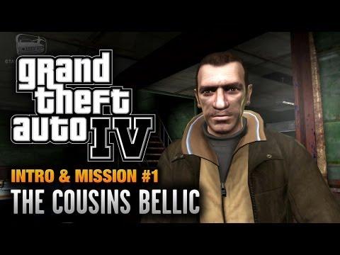 GTA 4 - Intro & Mission #1 - The Cousins Bellic (1080p)