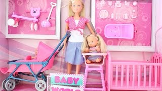 BARBIE IS MUMY OF 2 WITH A DOUBLE STROLLER OPENING / UNBOXING || Tia Tia
