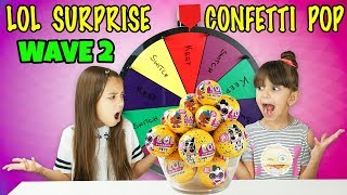 MYSTERY WHEEL OF LOL SURPRISE CONFETTI POP SWITCH UP CHALLENGE