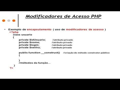 Clique e veja o vídeo Curso Avançado de Programação PHP - Modificadores de Acesso