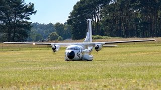HUGE RC TRANSALL C-160 LTG61 SCALE MODEL AIRPLANE FLIGHT DEMONSTRATION / Damelang 2016