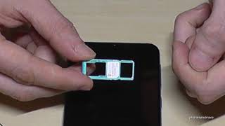 02. Samsung Galaxy M21: How to insert the SIM card? Tutorial for the SIM cards