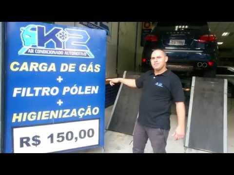 Troca de filtro + Higienização + Carga de Gas ar condicionado automotivo