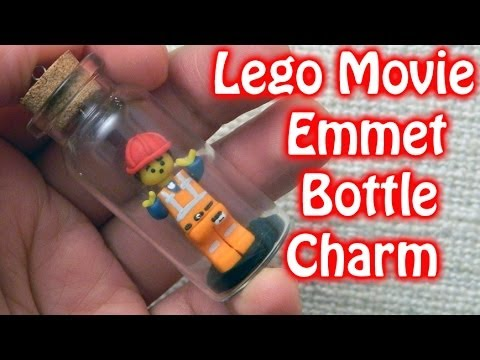 Lego Movie Emmet Miniature Bottle Charm Polymer Clay ...