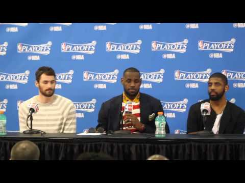Backdoor Cut: Cleveland Cavs #LeBron James, Kevin Love and #Kyrie Irving postgame presser (pt. 2)