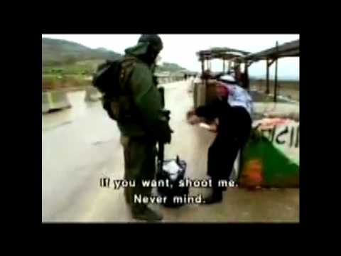 Shocking Clip: Israeli Checkpoint Cruelty