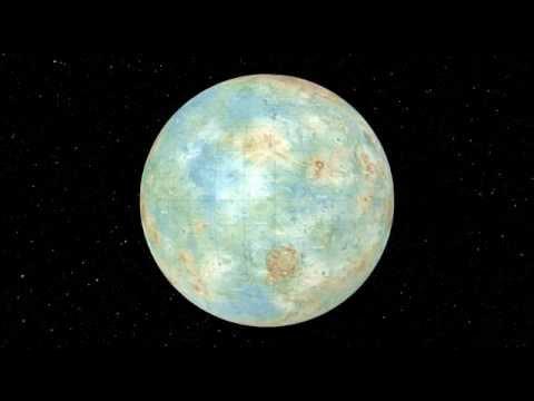 Rotation de la planète Vénus Topographie HD