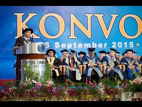 Ucapan Wakil Graduan Konvokesyen OUM ke-17 - Anas Alam Faizli