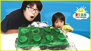 DIY GIANT GUMMY LEGO CANDY! How To Make Jello Gummies for Kids