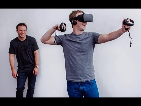 Facebook shows off Oculus Rift with its controller Oculus Touch.