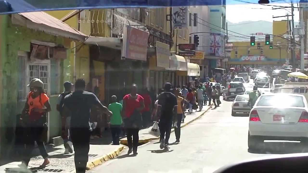Driving through downtown montego bay jamaica youtube