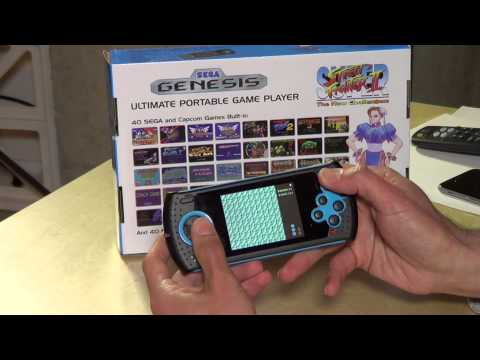 AT Games Ultimate Portable Game Player Review - Sega Genesis / Megadrive Handheld Game Console