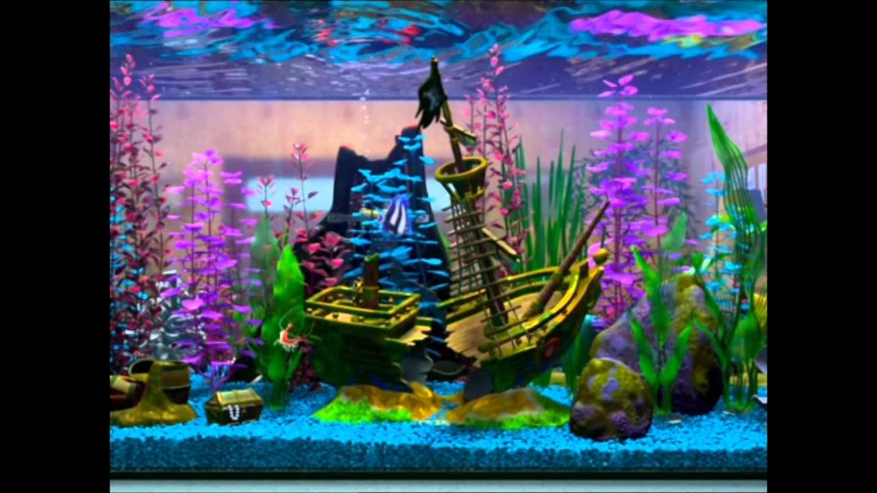 Aquarium 3d Day Night Hd Youtube