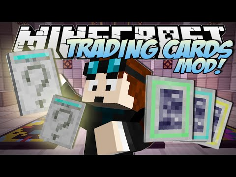 Minecraft   TRADING CARDS MOD! (Booster Packs. Rare Cards & TDM Cards!!)   Mod Showcase
