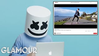 Marshmello Watches Fan S On Youtube Glamour