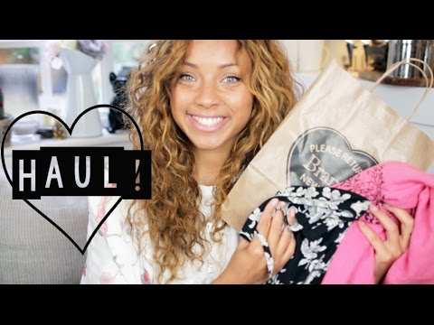 Haul! | Brandy Melville, Topshop, H&M Home & Books!