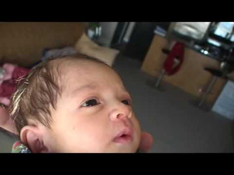 MARCH 20TH, 2009 - BABY GIRL POOP GOES THRU DIAPER Video