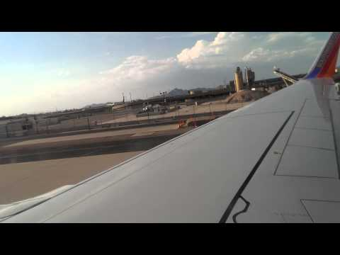 Southwest Airlines Boeing 737-700 Takeoff from Phoenix Sky Harbor (HD Video)