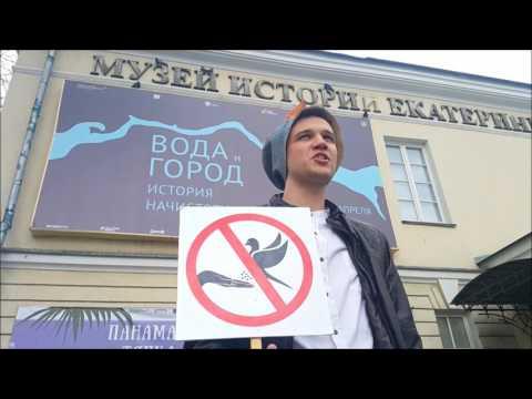 Человек Анти-Голубь начал работать в Екатеринбурге