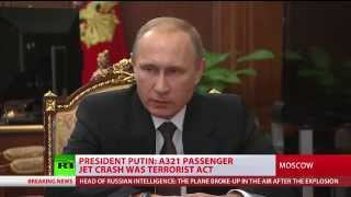 A321 jet crash in Sinai was terrorist act - Putin