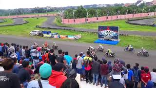 Final Matic 150cc Open. Bezzet Open Road Race di sirkuit Cibatu Majalengka