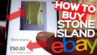 HOW TO COP STONE ISLAND ON EBAY FOR CHEAPER