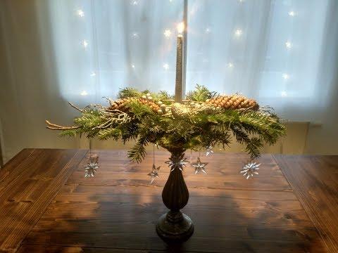 Christmas dekoration 2018   DIY Dekorace na stůl