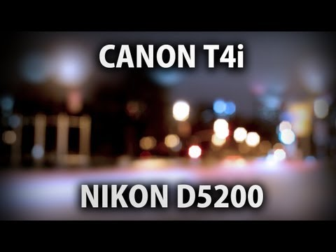 Nikon D5200 vs. Canon T4i: Low Light Video Comparison