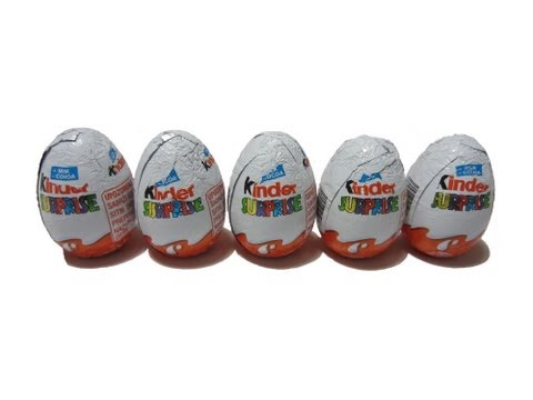 5 Kinder Surprise Eggs Unboxing