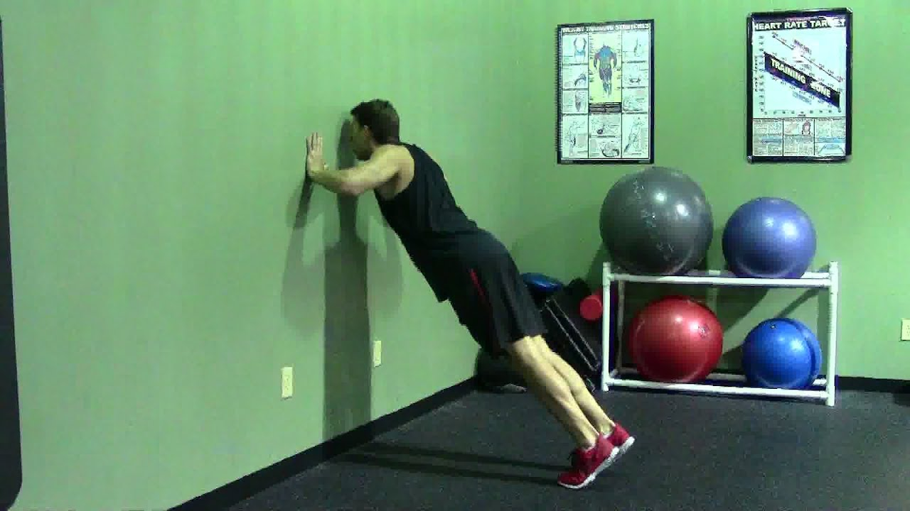 Wall Pushes Wall Push up Hasfit Push up