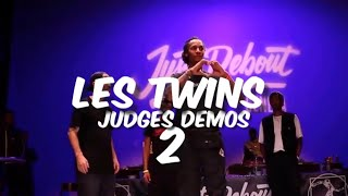 LES TWINS | ALL THEIR JUDGES DEMOS - JUSTE DEBOUT TOUR (2/2)