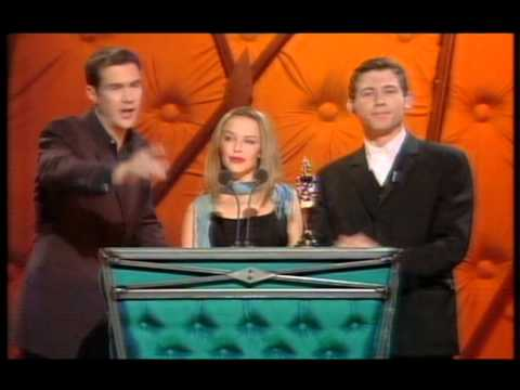 Manic Street Preachers win British Group presented by Kylie Minogue & Lee Evans | BRIT Awards 1999