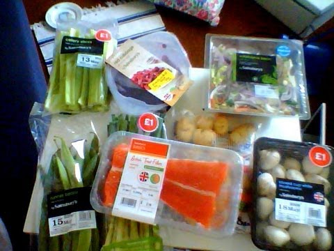 Sainsbury's Haul - Healthy Dinners for Weight Loss and Bargain Yellow Stickers!
