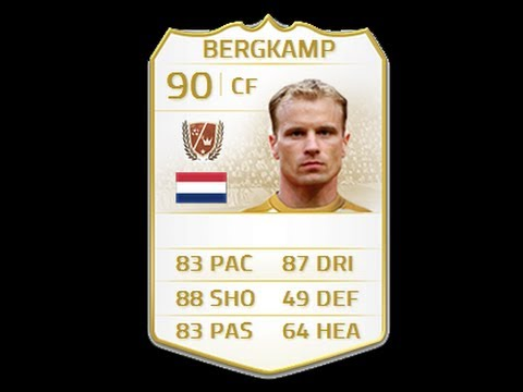 FIFA 14 LEGEND BERGKAMP 90 Player Review & In Game Stats Ultimate Team