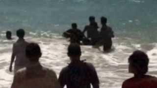 Rescue on the beach in Lampuuk - Banda Aceh