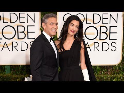 George & Amal Clooney Speak Out Against Paris Terrorist Attacks at 2015 Golden Globes
